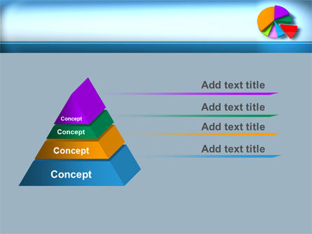 Pie Diagram On The Blue Background PowerPoint Template Slide 12