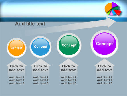 Pie Diagram On The Blue Background PowerPoint Template Slide 13