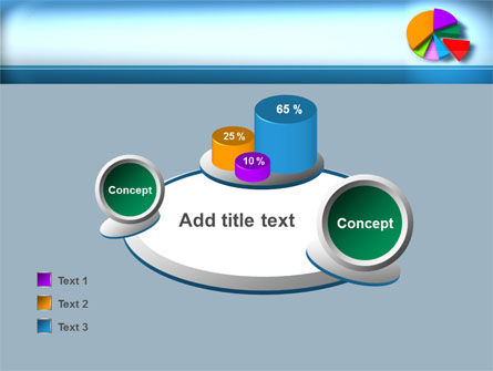 Pie Diagram On The Blue Background PowerPoint Template Slide 16