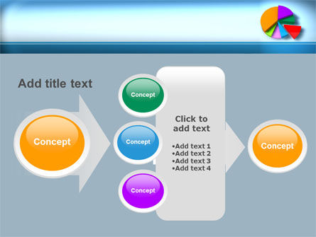 Pie Diagram On The Blue Background PowerPoint Template Slide 17