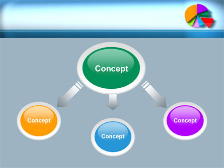 Pie Diagram On The Blue Background PowerPoint Template Slide 4