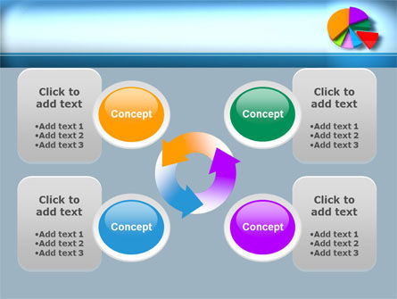 Pie Diagram On The Blue Background PowerPoint Template Slide 9