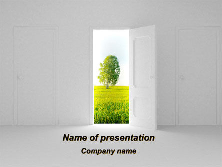 Door is Open PowerPoint Template, 09156, Nature & Environment — PoweredTemplate.com
