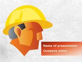 Careers/Industry: Builder's Portrait PowerPoint Template #09157