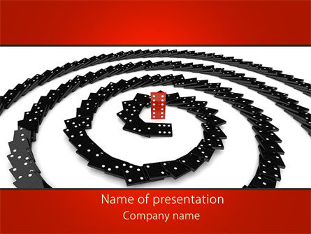 Principle Dominoes PowerPoint Template, 09161, Business Concepts — PoweredTemplate.com