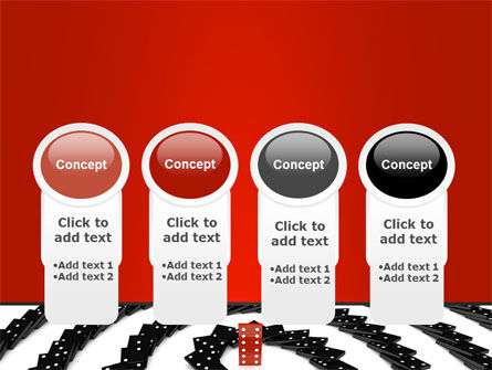 Principle Dominoes PowerPoint Template Slide 5