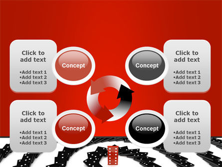Principle Dominoes PowerPoint Template Slide 9