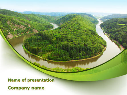 River Valley PowerPoint Template, 09162, Nature & Environment — PoweredTemplate.com
