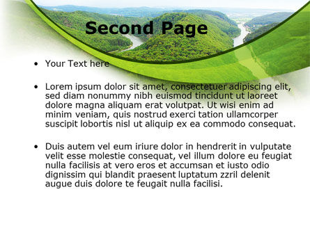 River Valley PowerPoint Template, Slide 2, 09162, Nature & Environment — PoweredTemplate.com