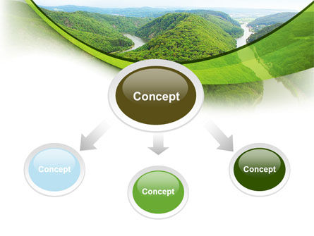 River Valley PowerPoint Template, Slide 4, 09162, Nature & Environment — PoweredTemplate.com