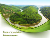 Nature & Environment: River Valley PowerPoint Template #09162