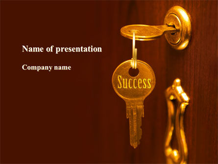 Real Estate: Key To Success Will Open The Door PowerPoint Template #09164