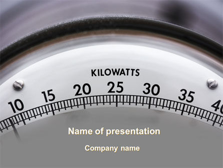 Wattmeter PowerPoint Template, 09165, Utilities/Industrial — PoweredTemplate.com
