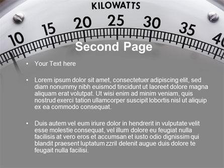 Wattmeter PowerPoint Template, Slide 2, 09165, Utilities/Industrial — PoweredTemplate.com