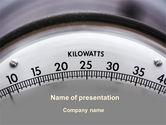 Utilities/Industrial: Wattmeter PowerPoint Template #09165