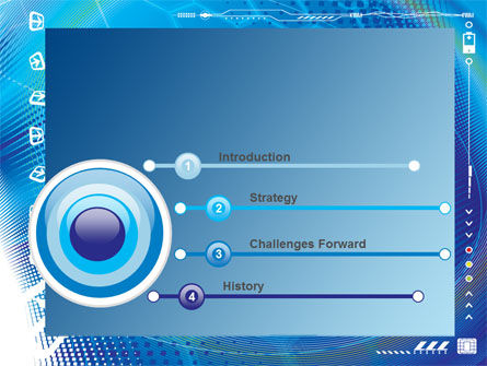 Abstract Blue Cells PowerPoint Template, Slide 3, 09166, Technology and Science — PoweredTemplate.com