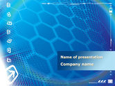 Technology and Science: Abstract Blue Cells PowerPoint Template #09166
