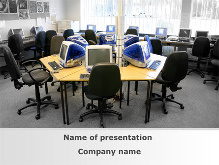 Computers: Computer Club PowerPoint Template #09168