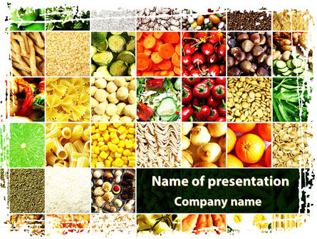 Foodstuffs PowerPoint Template, 09170, Agriculture — PoweredTemplate.com