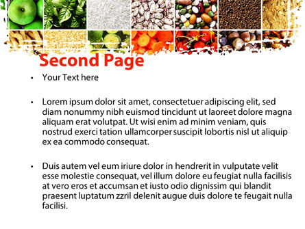 Foodstuffs PowerPoint Template, Slide 2, 09170, Agriculture — PoweredTemplate.com