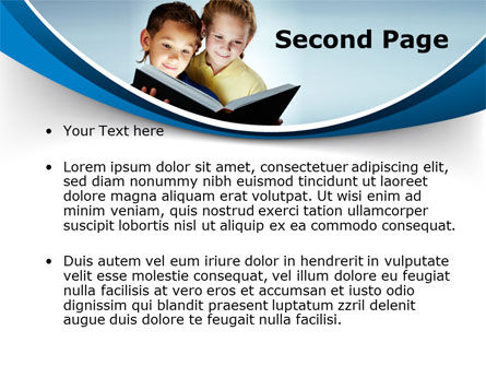Reading Book in Early Childhood PowerPoint Template, Slide 2, 09173, People — PoweredTemplate.com