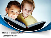 People: Reading Book in Early Childhood PowerPoint Template #09173