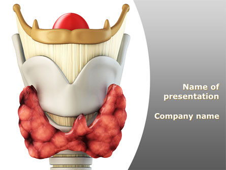 Medical: Thyroid PowerPoint Template #09174