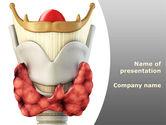 Medical: Thyroid PowerPoint Template #09174