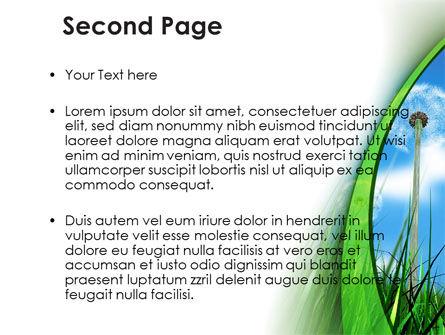 Dandelion Field PowerPoint Template, Slide 2, 09175, Nature & Environment — PoweredTemplate.com