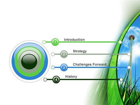 Dandelion Field PowerPoint Template, Slide 3, 09175, Nature & Environment — PoweredTemplate.com