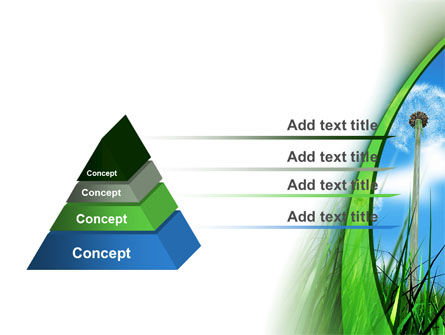 Dandelion Field PowerPoint Template, Slide 4, 09175, Nature & Environment — PoweredTemplate.com