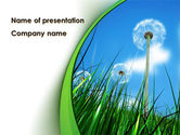 Nature & Environment: Dandelion Field PowerPoint Template #09175