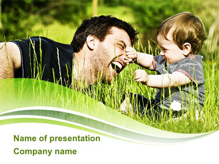Parenthood PowerPoint Template, 09176, People — PoweredTemplate.com