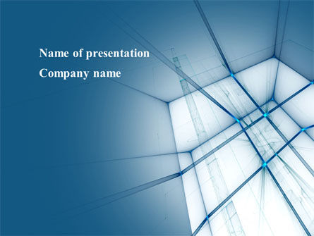 Abstract/Textures: Abstract Blue Construction PowerPoint Template #09178