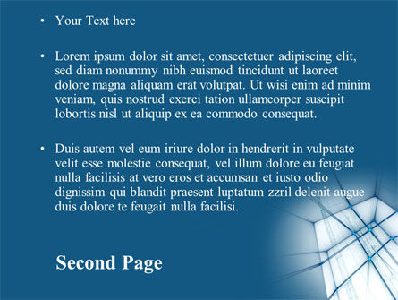 Abstract Blue Construction PowerPoint Template Slide 2