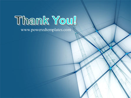 Abstract Blue Construction PowerPoint Template Slide 20