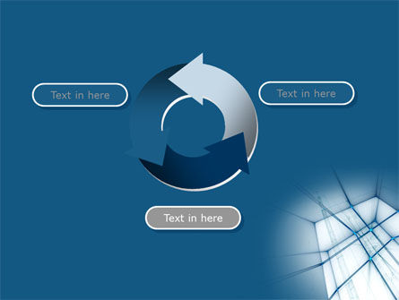 Abstract Blue Construction PowerPoint Template Slide 9