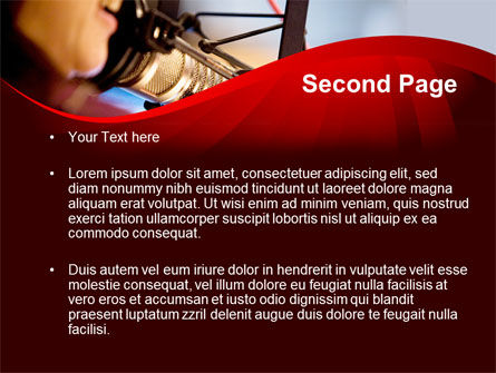 Singing Girl PowerPoint Template, Slide 2, 09180, Telecommunication — PoweredTemplate.com