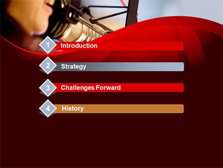 Singing Girl PowerPoint Template, Slide 3, 09180, Telecommunication — PoweredTemplate.com