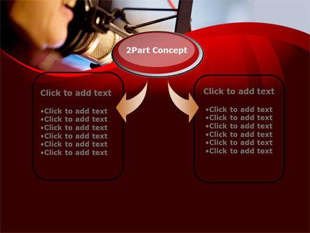 Singing Girl PowerPoint Template, Slide 4, 09180, Telecommunication — PoweredTemplate.com