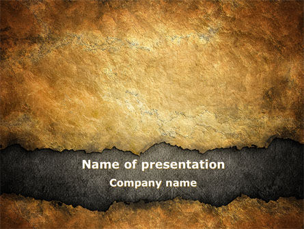 Nature & Environment: Old Parchment PowerPoint Template #09181