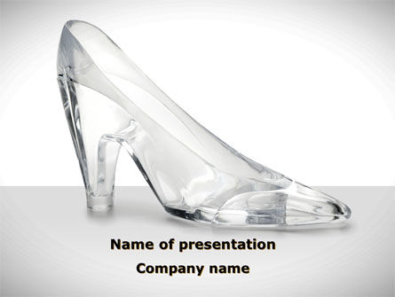 Crystal Shoe PowerPoint Template, 09182, Utilities/Industrial — PoweredTemplate.com