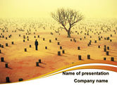 Nature & Environment: Appearance of Desert PowerPoint Template #09184