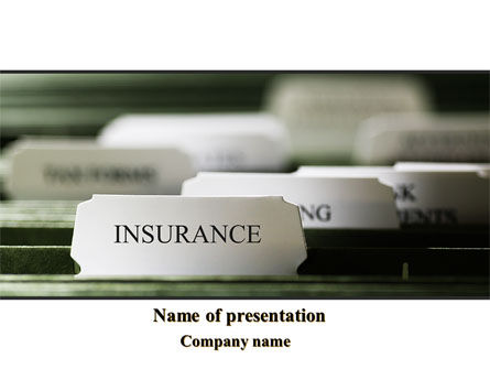Insurance Tab PowerPoint Template