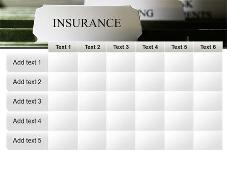 Insurance Tab PowerPoint Template Slide 15