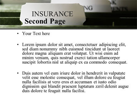 Insurance Tab PowerPoint Template Slide 2
