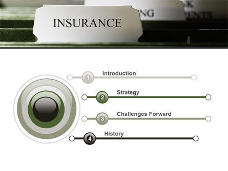 Insurance Tab PowerPoint Template Slide 3