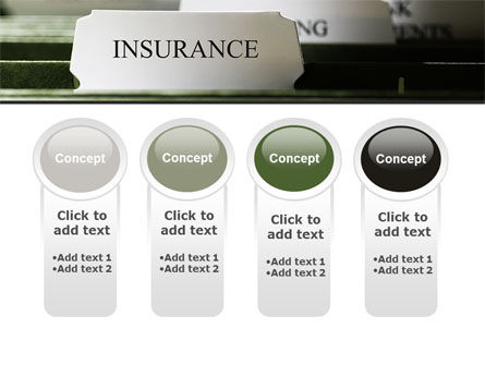 Insurance Tab PowerPoint Template Slide 5