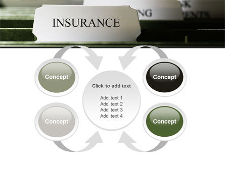 Insurance Tab PowerPoint Template Slide 6