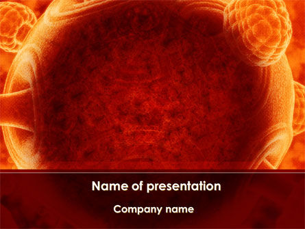 Technology and Science: Red Sphere PowerPoint Template #09186